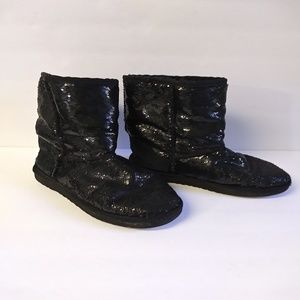 UGG Australia Black Sequin Boots